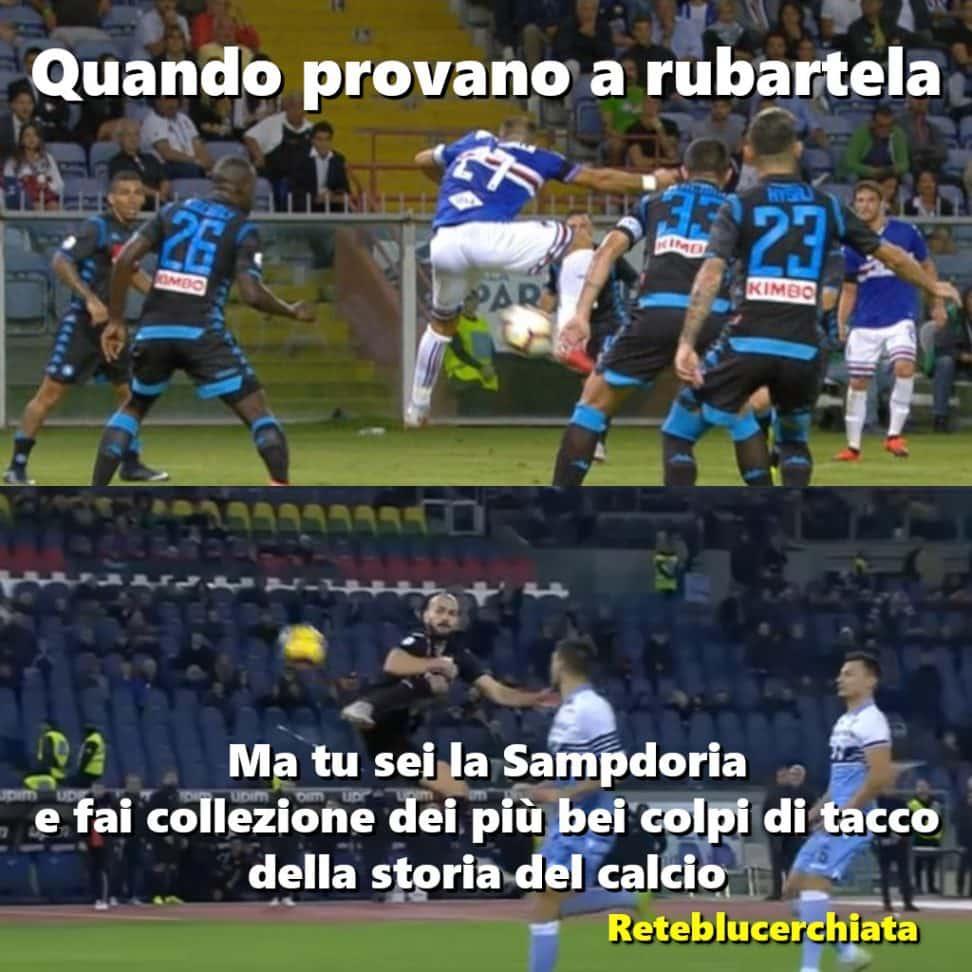 Lazio Sampdoria tacco di Saponara